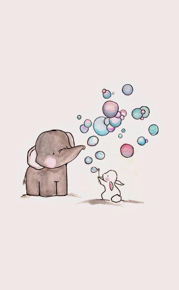 fondos cute elephant - Buscar con Google