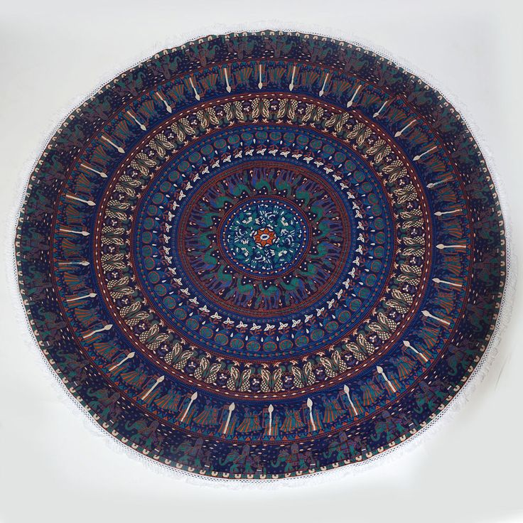 Bohemian Mandala Round Beach Tapestry Hippie Throw Yoga Mat Towel Indian Roundy #Unbranded #Holiday