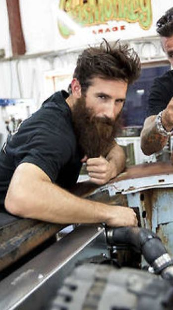 It frightens me ... How very attracted to this man I am!   Love his beard!  Aaron Kaufman- Fast N' Loud