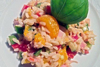 Frühlings-Reissalat mit Mandarinen und Basilikum (Rezept mit Bild) | Chefkoch.de