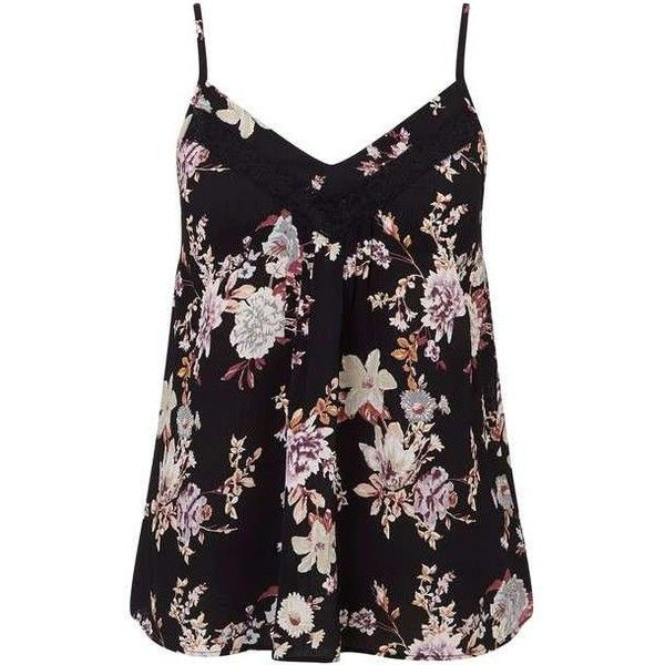Petites Floral Lace Cami Top (47 AUD) ❤ liked on Polyvore featuring tops, tanks, shirts, floral tank, lace camisole, floral tank top, lace camisole tops and lace tank