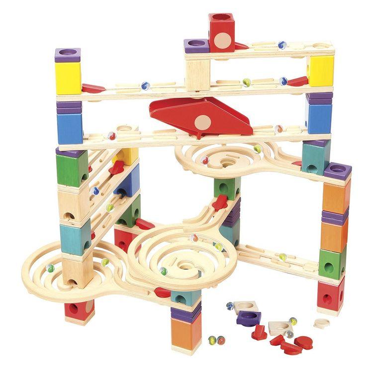 Amazon.com: Hape   Quadrilla   Vertigo   Marble Railway In Wood: Toys
