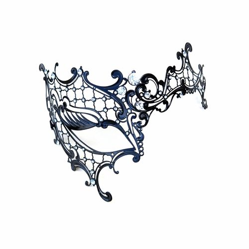 Buy Black Decorative One Eye Metal Venetian Half Mask. Shop stunning Masquerade Ball Masquerade Masks