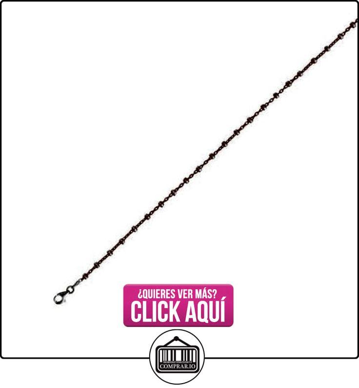 De color rosa con acabado de rodio de 1,72 mm de ancho de corte de diamante tipo de Cable de dos tonos tobillera con broche de langosta  ✿ Joyas para niñas - Regalos ✿ ▬► Ver oferta: https://comprar.io/goto/B00E2TV8VA