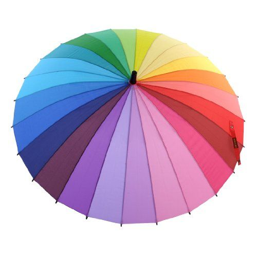 "Topwedding Large Pride Umbrella 42"" Diameter Rainbow Design Bridal Parasol Topwedding,http://www.amazon.com/dp/B00FQ73P1I/ref=cm_sw_r_pi_dp_PIVotb1MAEM7TKST"
