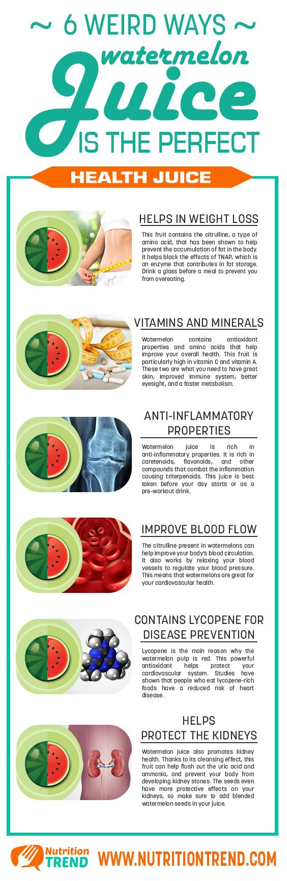 The health benefits of watermelon juice
