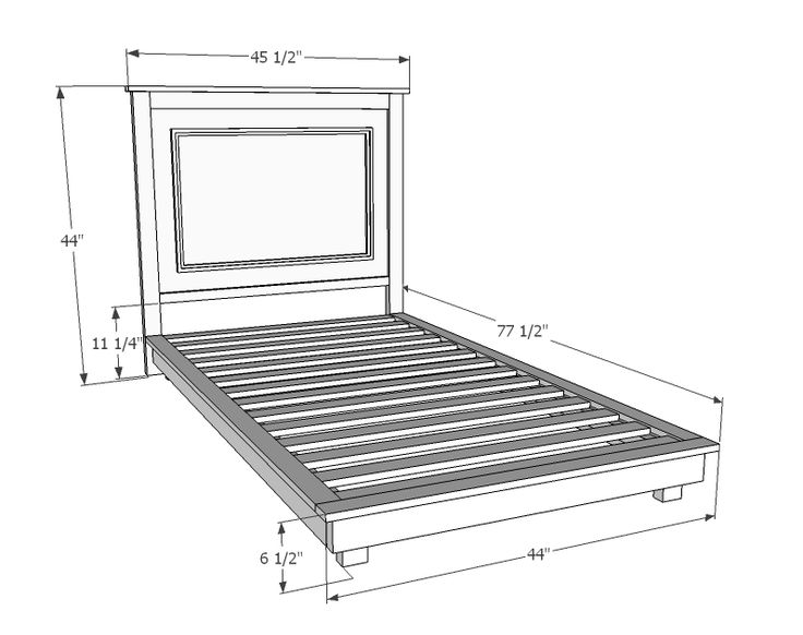 Fillman platform twin platform bed furniture pinterest furniture diy and crafts and twin - Simple twin bed frame plans ...