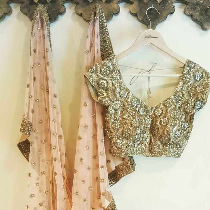 Beautiful designer saree and designer blouse from Anjali Sharma.  19 June 2017