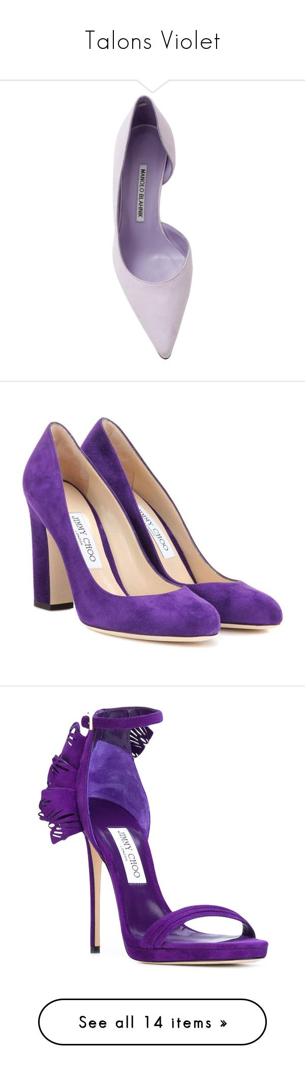 """""""Talons Violet"""" by liligwada ❤ liked on Polyvore featuring shoes, pumps, heels, manolo blahnik, manolo blahnik pumps, mid-heel pumps, heel pump, manolo blahnik shoes, обувь and purple"""