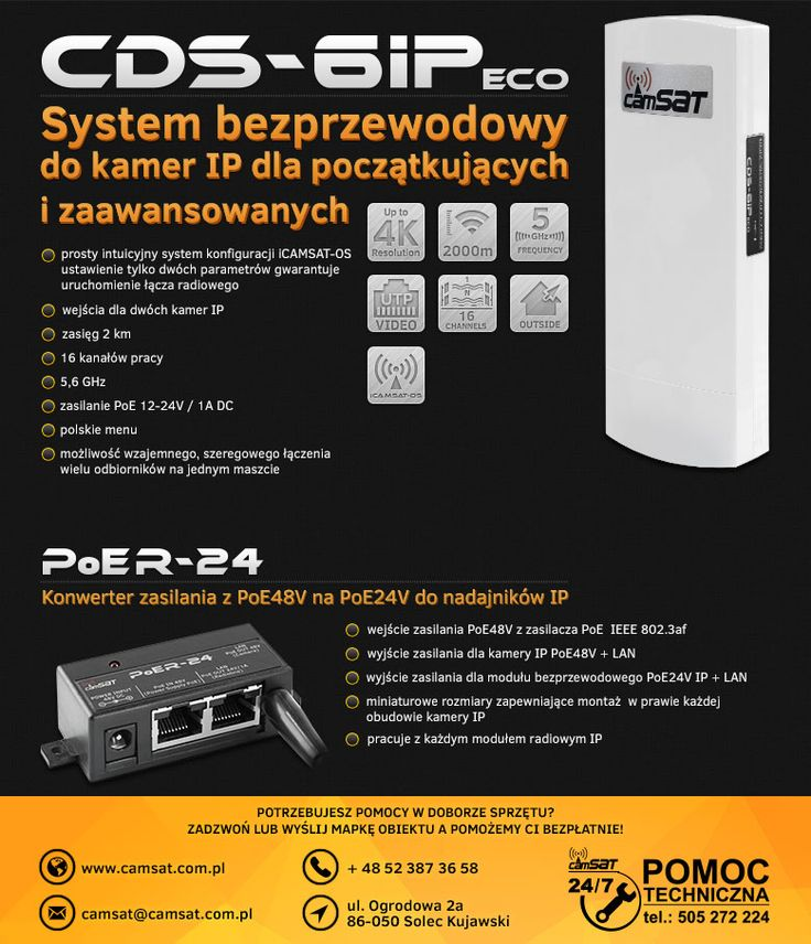 CDS-6IPeco radiowa transmisja dla kamer IP   Camsat