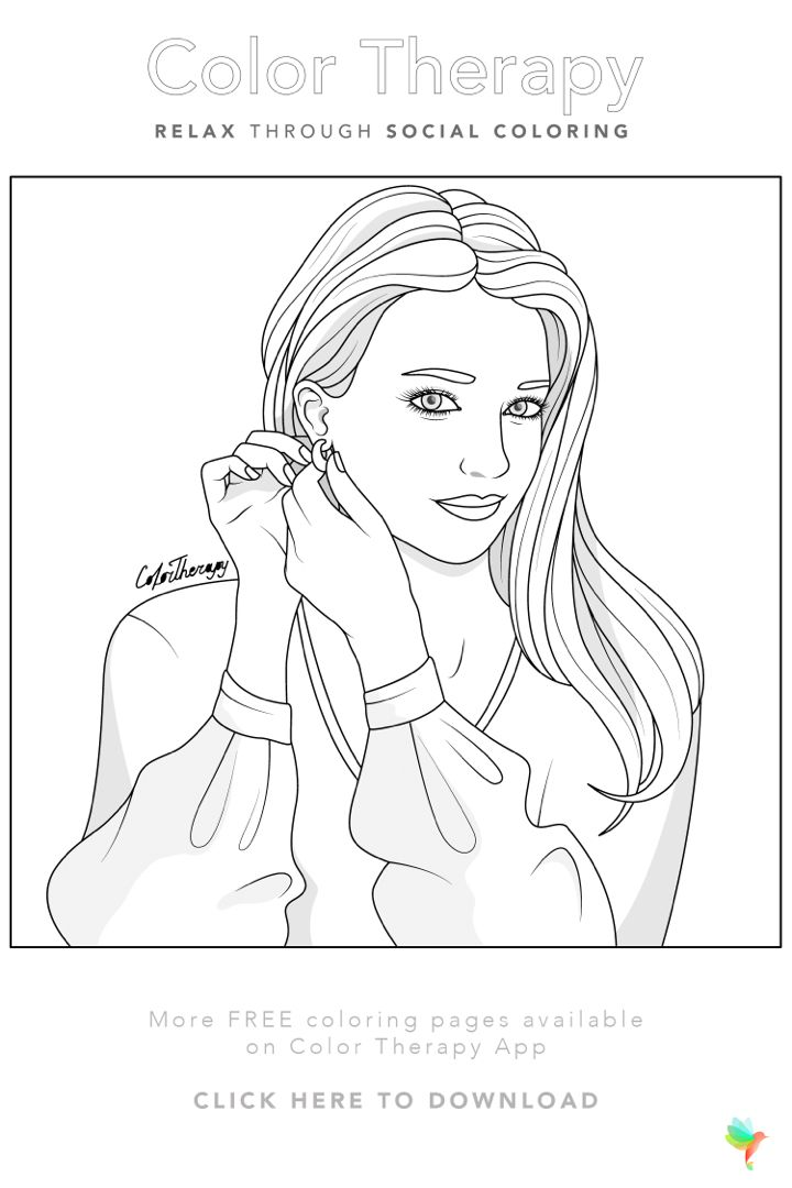Color Therapy Gift Of The Day Free Coloring Template Cute Coloring Pages Coloring Book Art Color Therapy