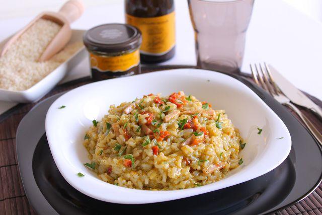 La Tavola Allegra: Risotto con Crema di Rucola, Pomodori Secchi e Prosciutto Cotto