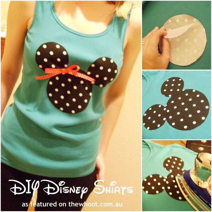 disney shirt This would be fun and easy! we could put them on target shirts!