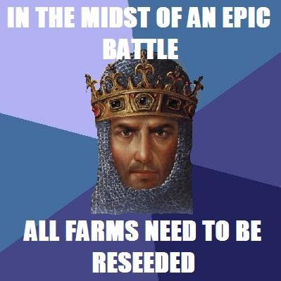 Farmers never get rest in Age of Empires