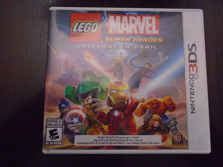 Nintendo 3 DS Marvel Super heroes Universe in Peril Complete box, booklets, game