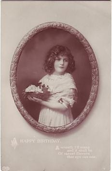 E A Schwerdtfeger Postcard - A Happy Birthday c1911
