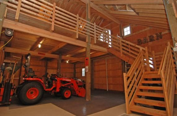 How to build a pole barn with a loft workshop ideas for Pole barn plans with loft
