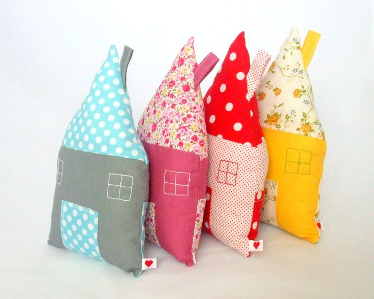 Soft Houses - for Toddlers and Kids - with a Pocket on the Back - by Cott´n Love - www.etsy.com/shop/cottnlove