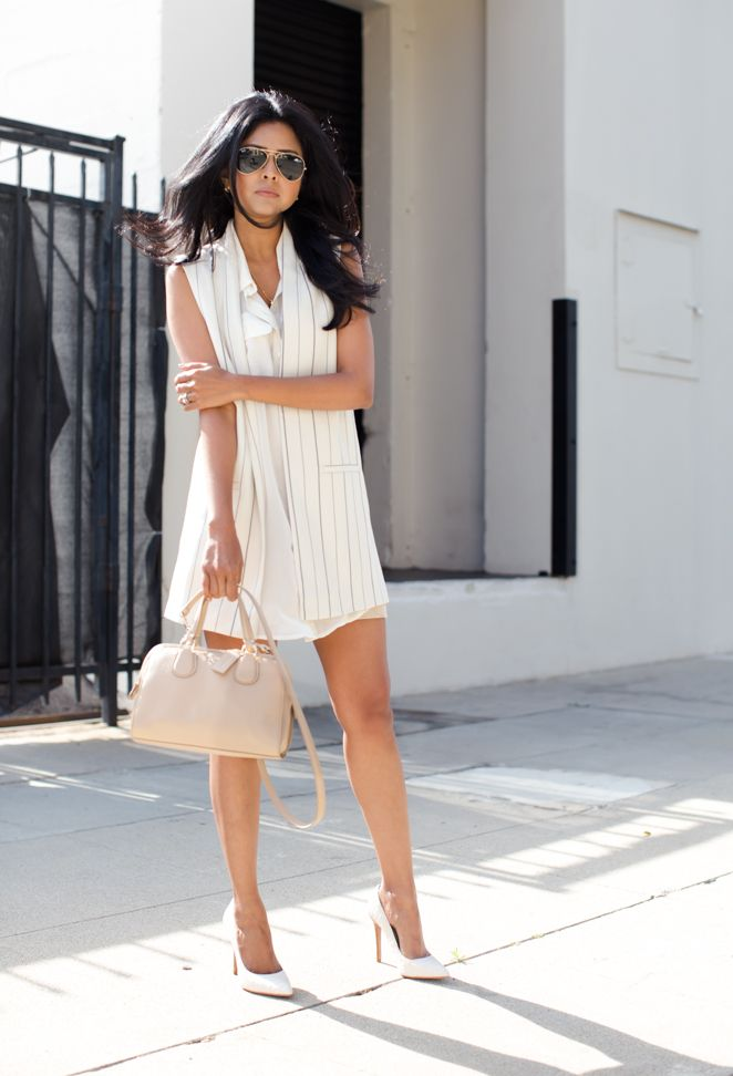Longline Vest + Shirt Dress for chic breezy work outfit in the summer