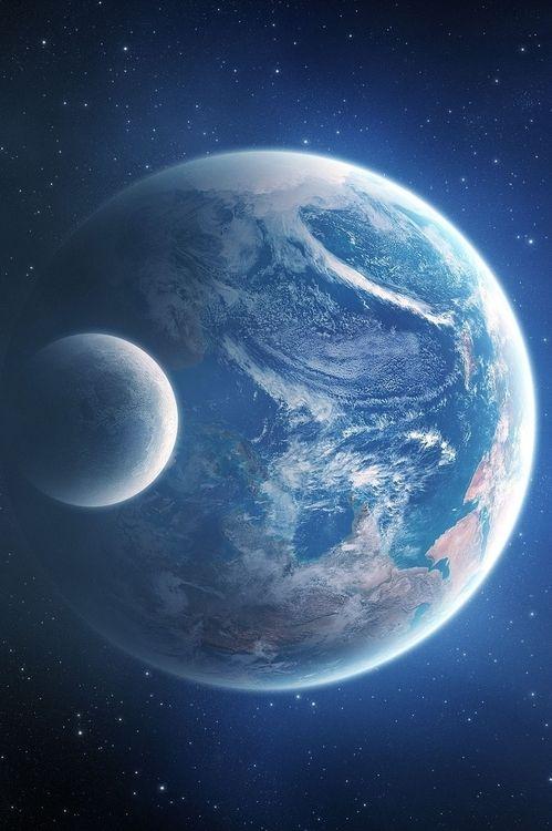 0ce4n-g0d:  Planet Earth Moon
