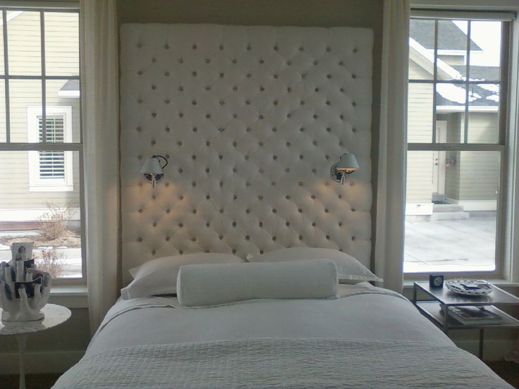11 best upholstered walls images on pinterest for Headboard wall panels