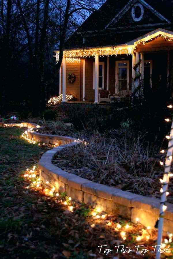 Outside Christmas Lighting Ideas Modern