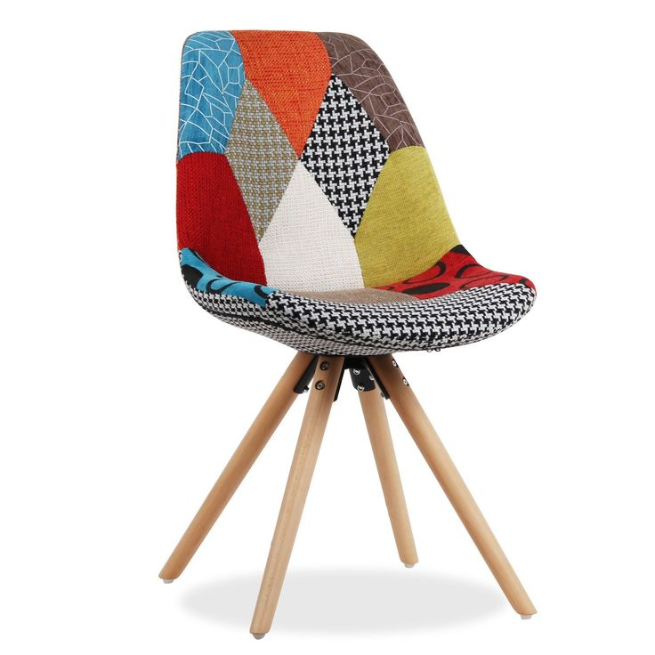 Chaise de design actuel pour salle manger ou salon for Chaise patchwork xl style