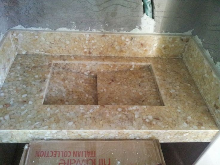 Basin in composite marble