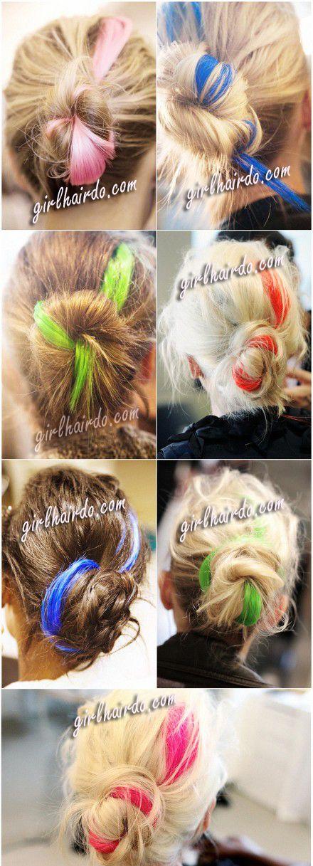 neon hair highlights - Google Search