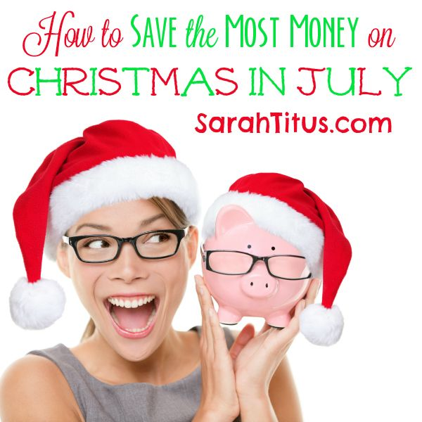 July is, in my opinion, the best month of the year to shop for Christmas. You get AS GOOD OF deals as after Christmas sales and Black Friday sales, but here's the thing…most people aren't thinking about Christmas right now. So, all those out of stock signs WON'T be put up. It's like the cream{Read on...}