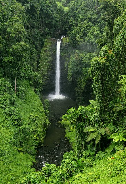 The Kingdom of Tonga - Waterfall in southern Upolu - this is a South Pacific Island and the last place over seas that I would love to visit.