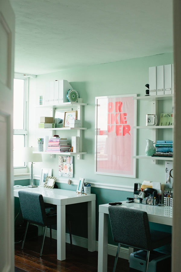 Best 25 mint office ideas on pinterest mint green rooms for Ultimate office design