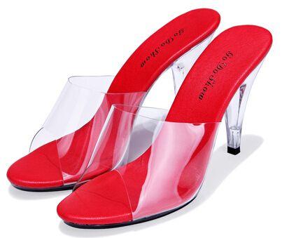 2015 vrouwen schoen sandalen sexy hakken geight 10 cm vrouwelijke hoge hakken sandalen ultra hoge hakken slippers transparant kristal schoenen