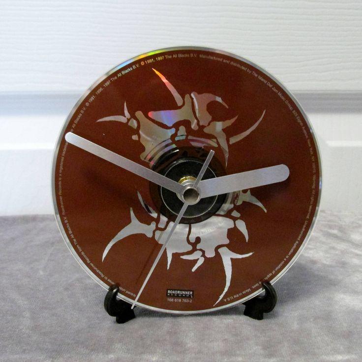 Sepultura CD Clock Thrash Metal Decor - Arise by DarkStormDesign on Etsy