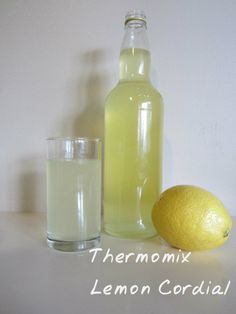 Lemon Cordial made with Theromix