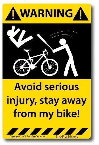 Cyclists do have sense of humour which only evaporate when bicycle gets stolen.