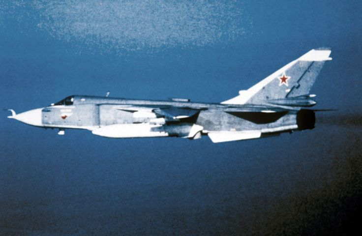 "First flight of the Sukhoi Su-24 ""Fencer"" strike aircraft 2/7 1967."