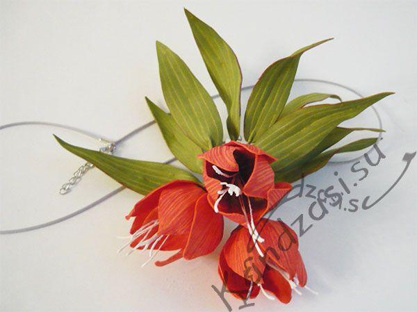 Мастер класс: кулон с цветами рябчика из фоамирана