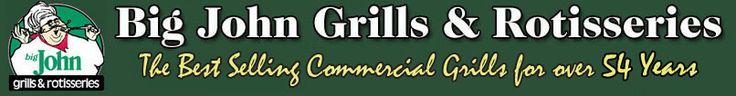 Big John gas grills, charcoal grills, charcoal rotisseries