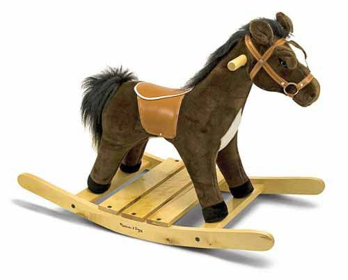 Melissa and Doug Plush Rocking Horse on sale for $86.00 instead of $119.00 at this website.