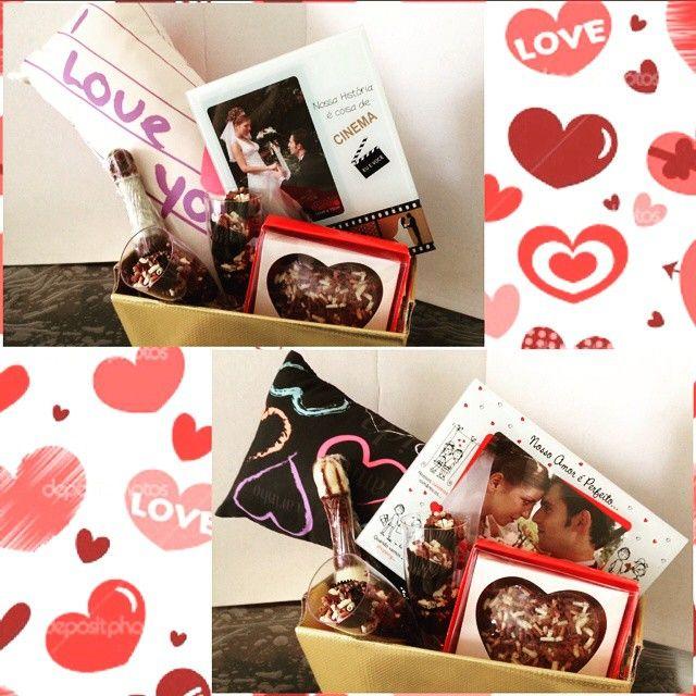 Dia dos namorados está chegando, que tal uma bela cesta para o seu grande amor! #diadosnamorados #amordaminhavida c #callebaut #amor #love #valentinesday #ela #namorada #gata #amordechocolate #chocolate #Nutella #ferrerorocher #mozinho #noiteromantica #iloveyou 1º opção: Linda cesta dourada com um charmoso travisseirinho, um porta retrato para os bom momento com o mozinho, uma garrafa de champanhe todinha de chocolate e recheada com brigadeiro* e claro que Ñ podia faltar
