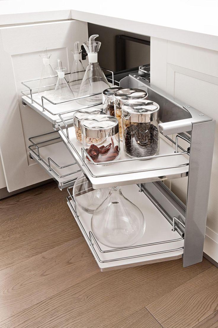 Vibo Rolling Corner Kitchen Storage Unit
