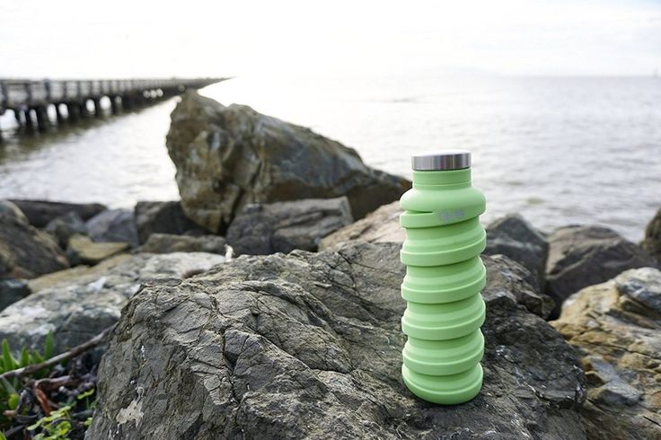 You've probably heard of collapsible cups but have you ever heard of the collapsible water bottle. This water battle collapses for easy storage.
