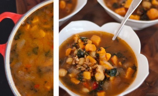 Vegan Sweet Potato, Kale and Chickpea Soup | Recipe