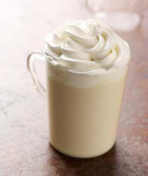 Starbucks White Hot Chocolate. This is for @Renee Scott and @Marcie Bartrum, my white chocolate lover girls!
