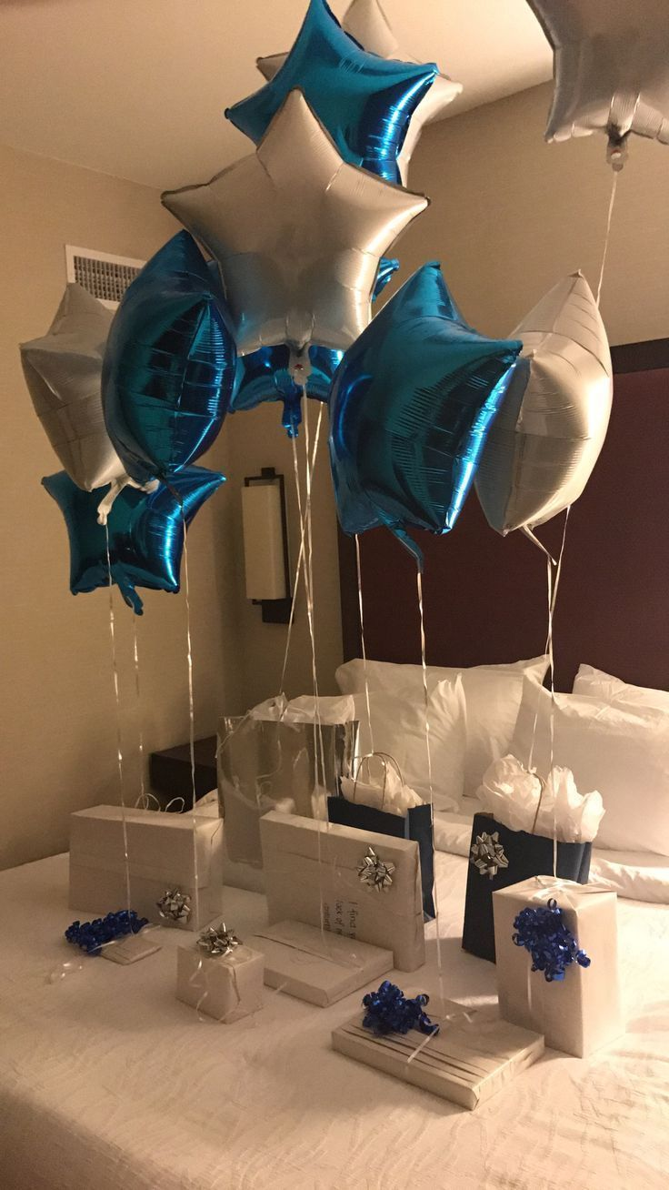 Pokloniii Romantic Room Decoration For Husband Birthday Romantic Bedroom Dec Birthday Balloon Surprise Birthday Surprise Boyfriend Boyfriends Birthday Ideas