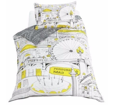 Cotton Rich Iconic London landmarks Illustration Bedding Set (Duvet Cover With Pillow Case) Reversible - Single. duvet set http://www.amazon.co.uk/dp/B01B652NM0/ref=cm_sw_r_pi_dp_nsLWwb1RS4328