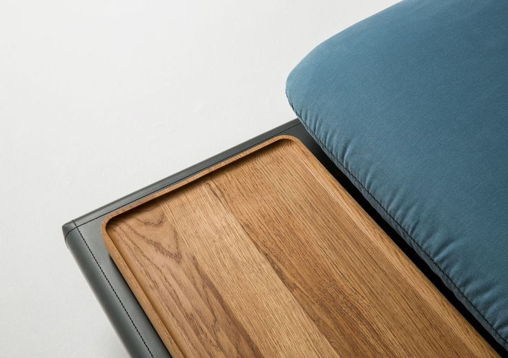 Sofa4manhattan: custom made design sofas and oak tray with Danish oil finish. Project by BertO and Design-Apart. Design Lera Moiseeva in collaboration with Luca Nichetto