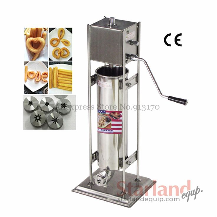 Commercial Deluxe stainless steel  Manual Spanish Churros Machine hand-operated Churros Maker Capacity 7 Liters
