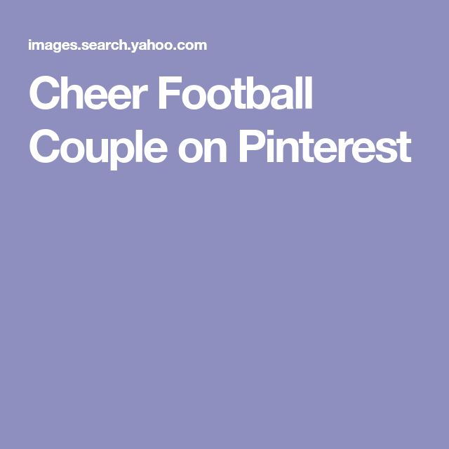 Cheer Football Couple on Pinterest